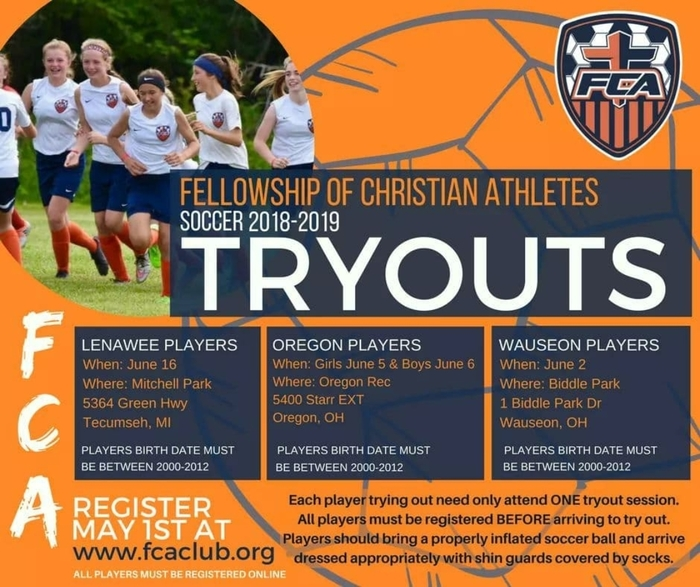 FCA Soccer Tryouts