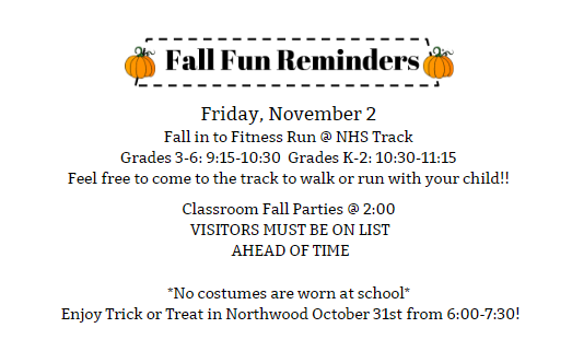 Fall Fun Reminders