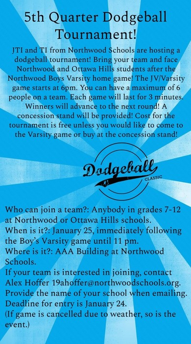 Updated Dodgeball Info.