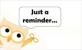 Owl Reminder Clipart