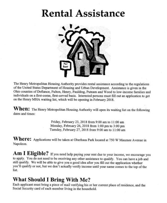 Rental Assistance Information
