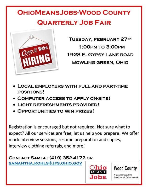 Wood County Quarterly Job Fair