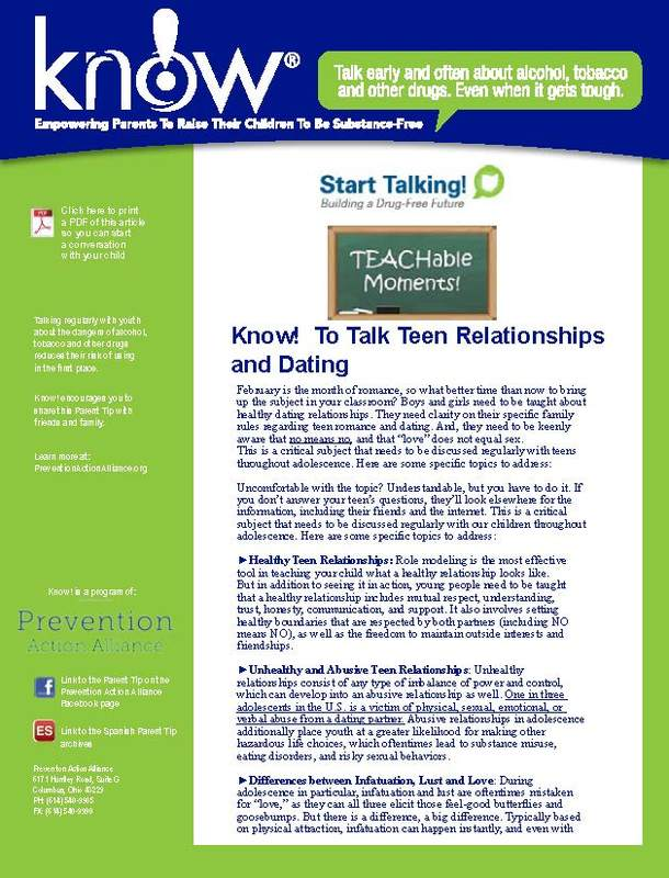 KNOW (Substance Free Kids) Newsletter