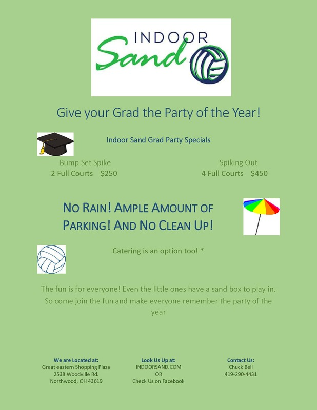 Indoor Sands Grad Parties