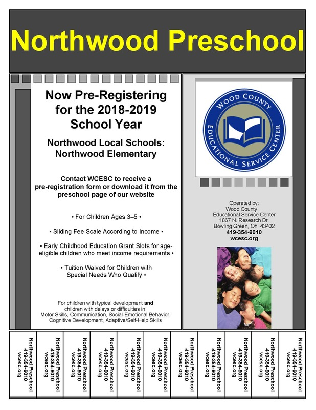 Wood County Preschool Pre-registration!