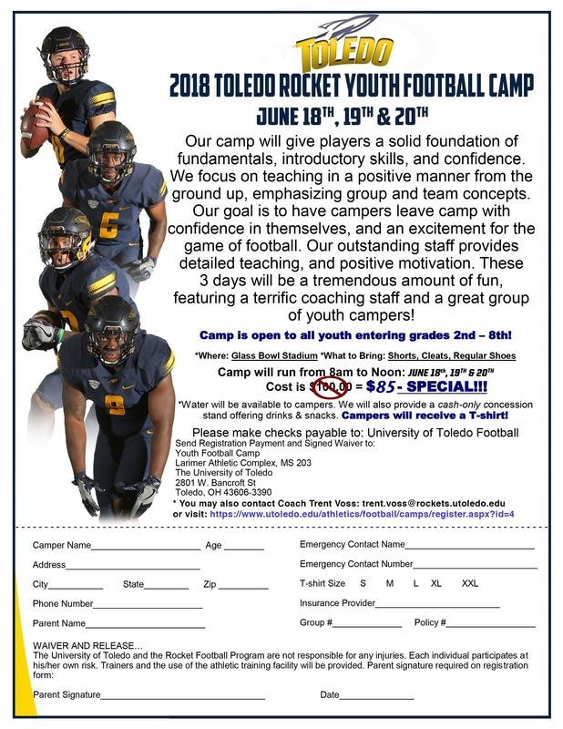 UT Youth Football Camp