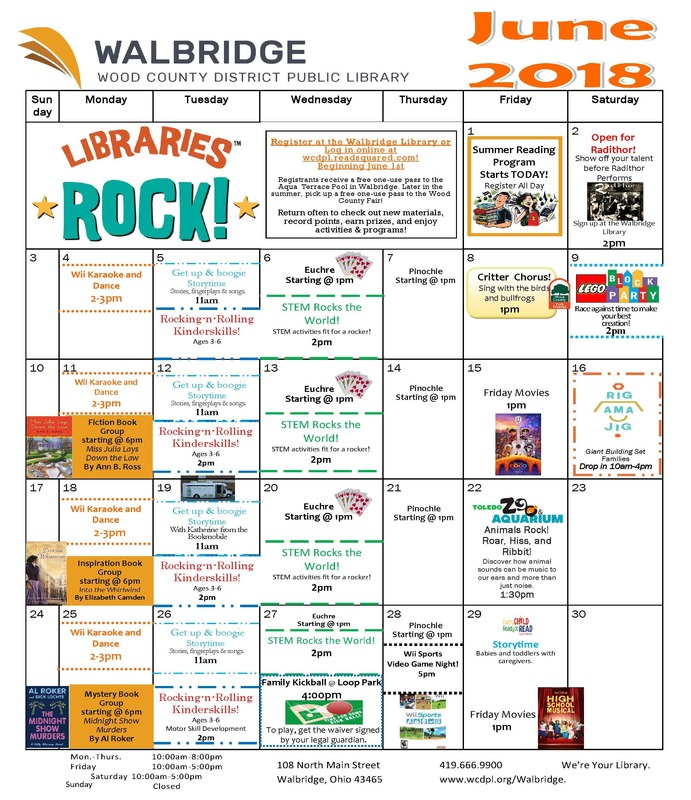 Walbridge Library Calendar