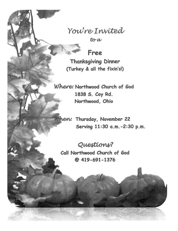 Free Thanksgiving Dinner!