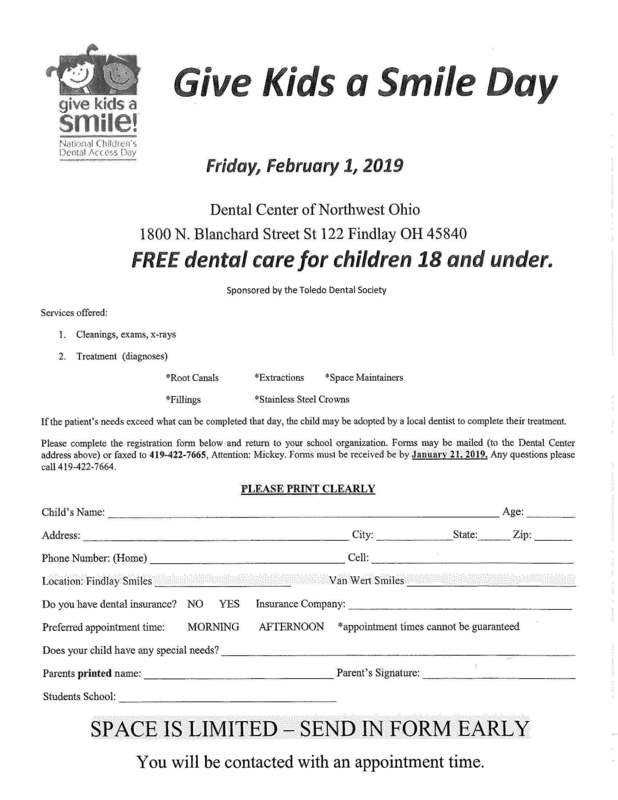 Free Dental Care Day - Sign up now!